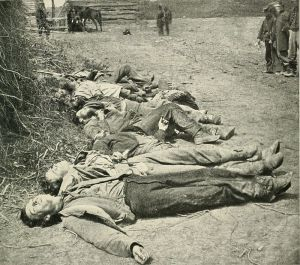 dead soldiers, from Ewell's May 1864 attack at Spotsylvania