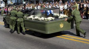Communism works so well, soldiers had to push Fidel Castro's hearse because the Cuban government couldn't find a working truck