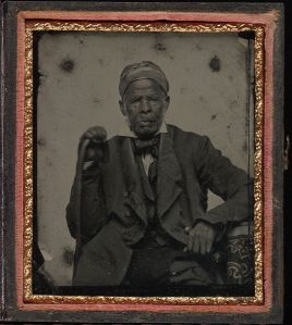 Uncle Marian, a slave of great notoriety, of North Carolina. Daguerreotype, circa 1850.