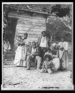 Four generations of a slave family, Smith's Plantation, Beaufort, South Carolina, 1862